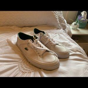 Lacoste men white shoes size 8